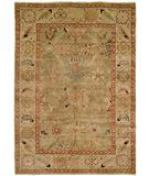 RugStudio presents HRI Peshawar P-6 Light Green Ivory Hand-Knotted, Best Quality Area Rug